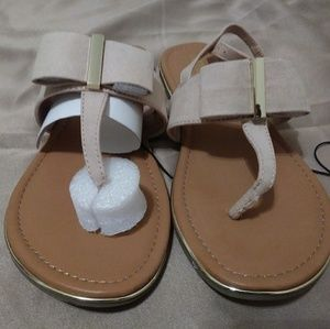 Sandals With Bow ( New Without Tag) Never Worn